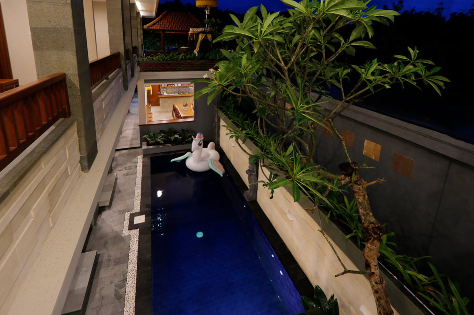 swimming pool from up stair